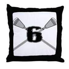 Lacrosse 6 Throw Pillow