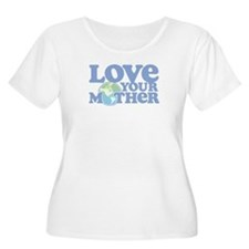 Retro Love your Mother Plus Size Scoop Neck Tee
