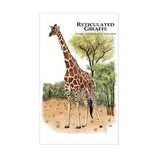 Reticulated Giraffe Rectangle Decal