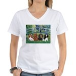 Bridge & 4 Cavaliers Women's V-Neck T-Shirt