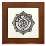 Maine State Police Framed Tile