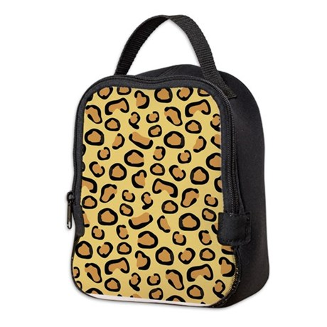 Leopard Spots Animal Skin Neoprene Lunch Bag