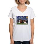 Starry / 4 Cavaliers Women's V-Neck T-Shirt