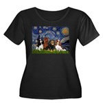 Starry / 4 Cavaliers Women's Plus Size Scoop Neck