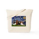 Starry / 4 Cavaliers Tote Bag