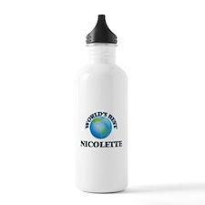 World's Best Nicolette Water Bottle