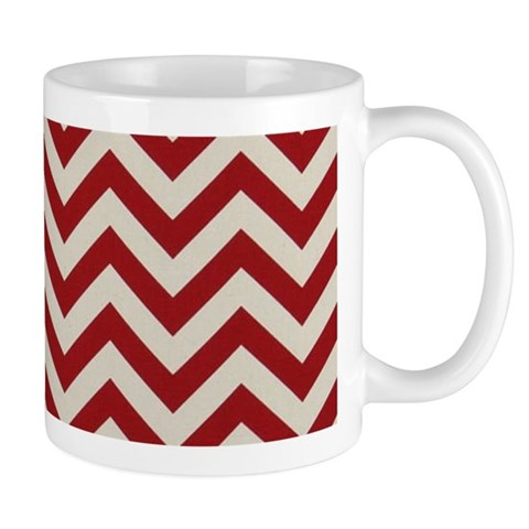 modern abstract red chevron pattern Mugs