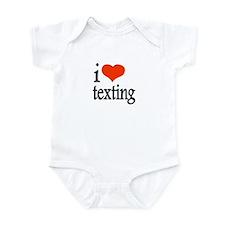 I Love Texting Text Messages Infant Bodysuit