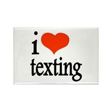 I Love Texting Text Messages Rectangle Magnet