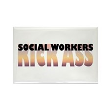 Social Workers Kick Ass Rectangle Magnet (10 pack)
