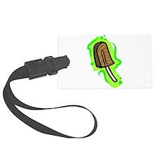 fudgesicle on bold green background Luggage Tag