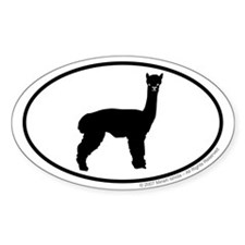 Alpaca Euro Oval Decal