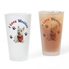 I Love Westies 111 Drinking Glass