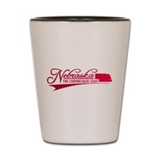 Nebraska State of Mine Shot Glass