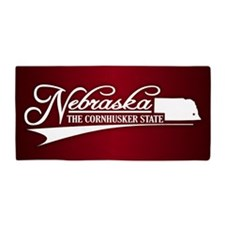 Nebraska State of Mine Beach Towel