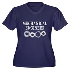 Mechanical Engineer Women's Plus Size V-Neck Dark