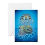 Vishnu &amp; Lakshmi Massage Cards (Pk of 10)