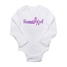 Unique Run like a girl Long Sleeve Infant Bodysuit