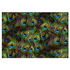 Peacock Feathers Invasion Wall Art