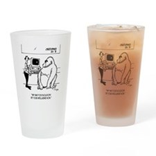 Evolution Cartoon 2839 Drinking Glass