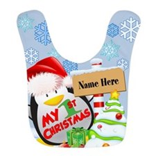 Penguin 1st Christmas Custom Bib
