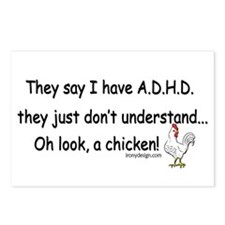 ADHD Chicken Postcards (Package of 8)
