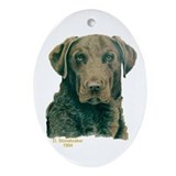 Chesapeake Bay Retriever Christmas Oval Ornament