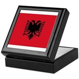 Albania Flag Keepsake Box