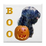 Black Russian Boo Tile Coaster