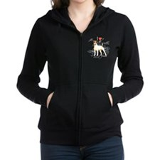 Cute Jack russell terrier Women's Zip Hoodie