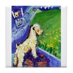 wheaten summer 1 tile Coaster