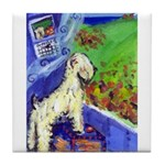 wheaten fall 1 Tile Coaster