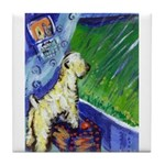 wheaten spring1 Tile Coaster