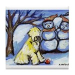 wheaten winter 2 Tile Coaster