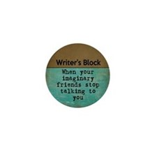 Writer's Block Mini Button