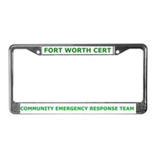 Fort Worth CERT License Plate Frame
