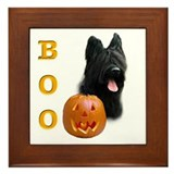 Briard Boo Framed Tile