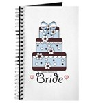 Bride Wedding Cake Blue Brown Wedding Organizer