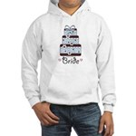 Bride Wedding Cake Blue Brown Hooded Sweatshirt