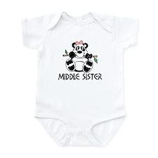 Cute Panda Middle Sister Infant Bodysuit