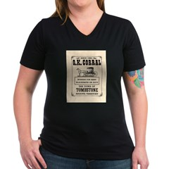 The O.K. Corral Women's V-Neck Dark T-Shirt