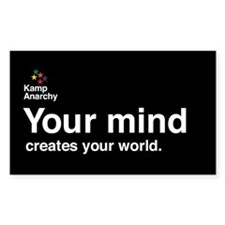 Your Mind Creates Your World Rectangle Decal