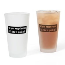 Naughty Voice Drinking Glass