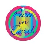 Neon Peace On Earth Christmas Ornament
