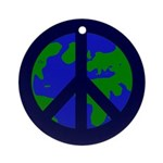 Earth Peace Sign on Christmas Ornament