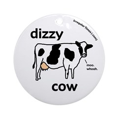 Dizzy Cow Christmas Tree Ornament