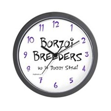 Borzoi Doggy Style Wall Clock