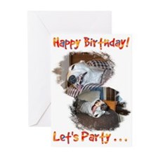 HAPPY BIRTHDAY LET'S PARTY GREETING CARDS Pk of 10