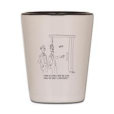 Restroom Cartoon 1306 Shot Glass
