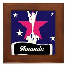 Allstar Cheerleader Framed Tile